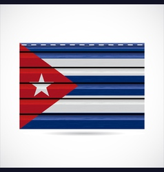 Cuba siding produce company icon vector image