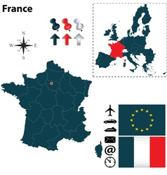 France and european union map vector