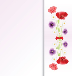 bouquet of flowers on colorful background vector image