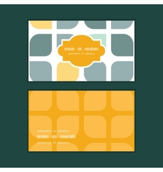 Abstract gray yellow rounded squares vector