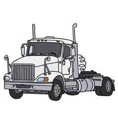 Big towing truck vector