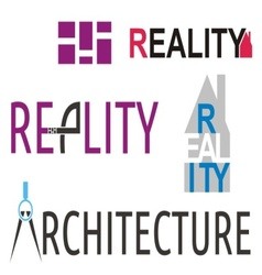 Reality and architecture logos vector