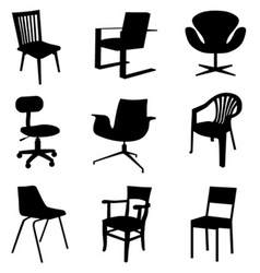 Chair set vector