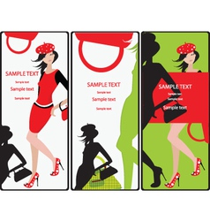 Fashion cards vector