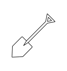 Shovel line icon vector