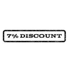 7 percent discount watermark stamp vector image vector image