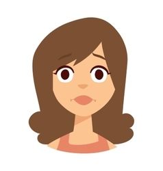 Sadness girl face vector