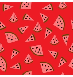 Juicy watermelon pattern vector