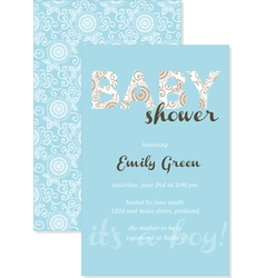 Baby shower gift card vector