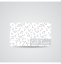 Abstract beautiful music gift card design vector