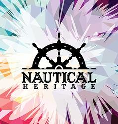 Abstract colorful anchor navy nautical theme vector