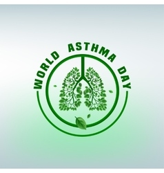 Asthma Day Logo vector image