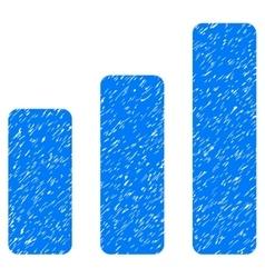 Bar chart increase grainy texture icon vector