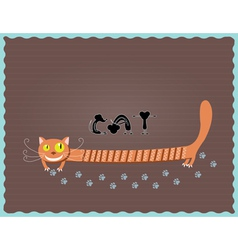 Cat and three mouse vector