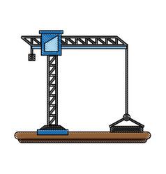 construction crane symbol vector image