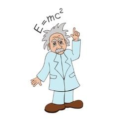 Einstein on a white background vector image vector image