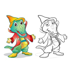 Fantasy mascot crocodile cartoon vector image vector image