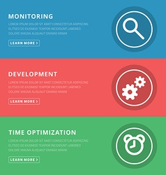 Flat design concept for monitoring development vector