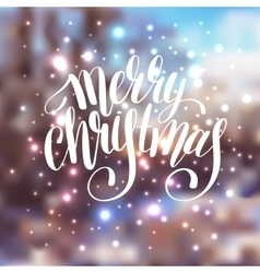 Hand lettering written merry christmas holiday vector