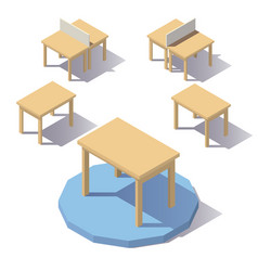 isometric low poly table vector image vector image