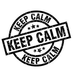 Keep calm round grunge black stamp vector