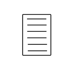 linear file document icon vector image