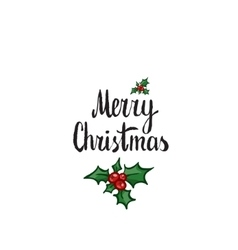 Merry christmas hand drawn design element vector