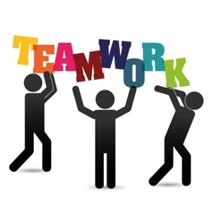 Pictogram teamwork support design vector