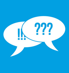 question and exclamation icon white vector image vector image