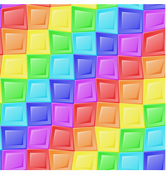 Rainbow mosaic pattern vector