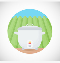 Rice cooker flat icon vector
