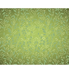 seamless floral green background vector image