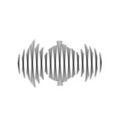 Sound waves icon gray icon shaked at vector