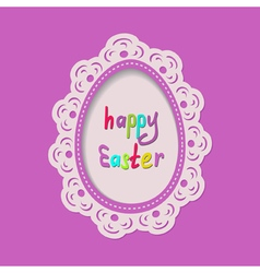 template of the Easter greeting card vector image vector image