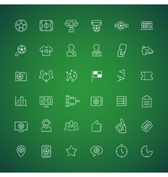 Thin Icons on the Theme of Soccer vector image vector image