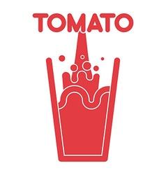 Tomato juice glass Spray fresh tomato juice vector image vector image
