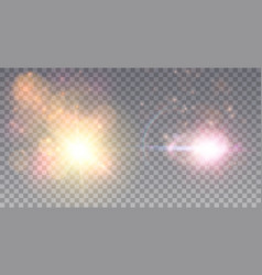 Two cosmic outbrusts vector