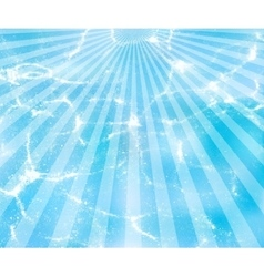 water background with sun rays vector image vector image