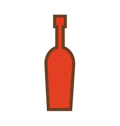 wine bottle logo vector image vector image