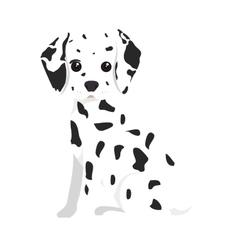 Dalmatian dog cartoon vector