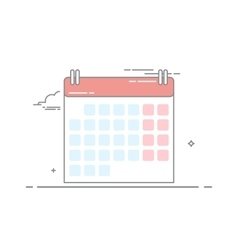 The concept of wall-calendar made in a linear vector