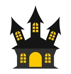 Ancient palace icon flat style vector