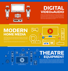 digital technology concept vector image