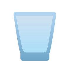 Glass cup isolated vector