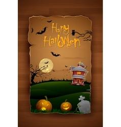 Haunted House in Halloween Night vector image