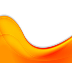 Abstract orange smooth waves background vector