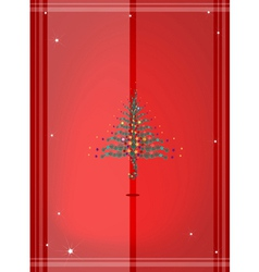 Red Background of Christmas Tree vector image