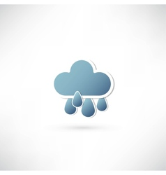 Rain and blue cloud icon vector
