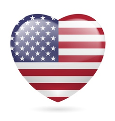 Heart icon of usa vector
