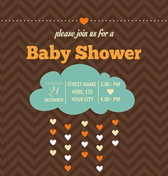 Baby shower invitation in retro style vector